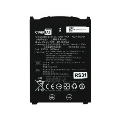 CipherLab RS31 Series Ersatzakku Li-Ion, 3,85V, 3000mAh
