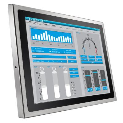 15 Touchmonitor Edelstahl