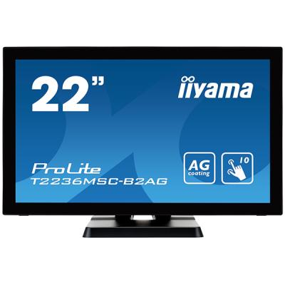 iiyama ProLite T2236MSC-B2AG, 54,6cm (21,5''), Projected Capacitive, Multi Touch, Full HD, Antiglare