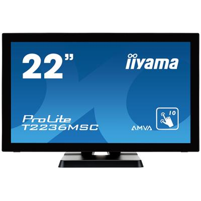 iiyama ProLite T2236MSC-B2, 54,6cm (21,5''), Projected Capacitive, Multi Touch, Full HD, schwarz