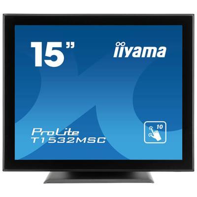 iiyama ProLite T1532MSC-B5AG, 38,1cm (15''), Projected Capacitive, 10 TP, schwarz