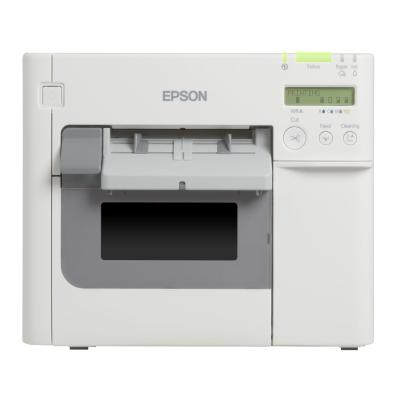 Epson TM-C3500, Cutter, Display, USB, Ethernet, weiß