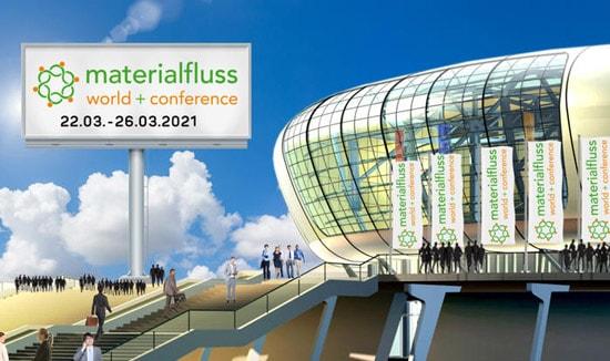 """Besuchen Sie uns auf der virtuellen Messe """"materialfluss virtual conference"""" vom 22.03. bis 26.03.2021"""