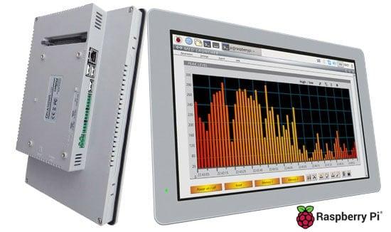 7″, 10,1″, 15″ Panel PC mit Touchscreen und IP65-geschützter Front – powered by Raspberry Pi